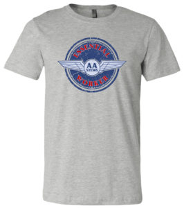 AA Stews Essential Workers T-Shirt in Heather Grey